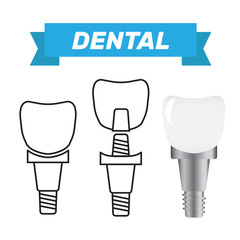 Tooth whitening dentist icon. Dental health care and oral hygiene vector