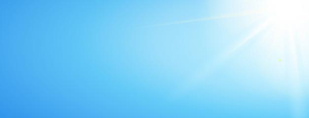 Himmel Banner mit strahlender Sonne am Rand