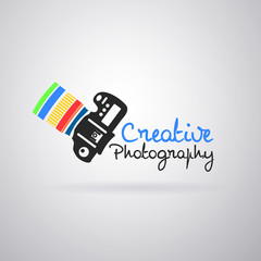 Logo colorful camera photography