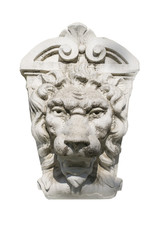 .Lion's head architectural element, isolated