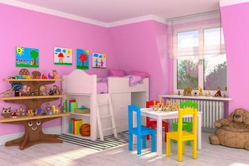 Kinderzimmer, Spielsachen, Spielzeug, Mädchen, Kind