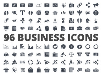 Business icon vector silhouette