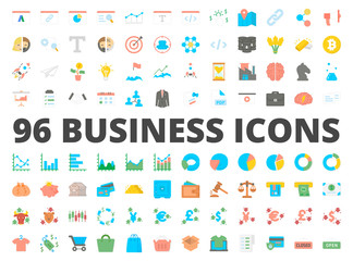 Business icon vector flat