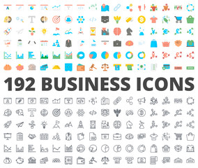 Business icon vector flat line