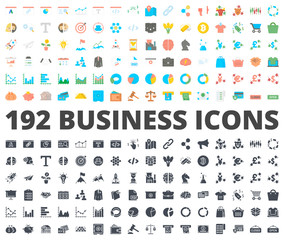 Business icon vector flat silhouette