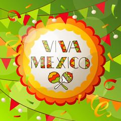 Viva Mexico abstract greeting card