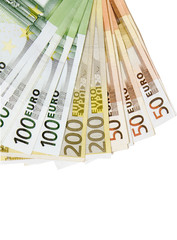 Car key on Euro money background.Concept photo of money, banking ,currency and foreign exchange rates.