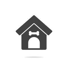 Dog house icon vector isolated
