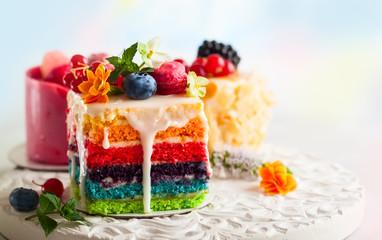 Papiers peints Dessert Various slices of cakes