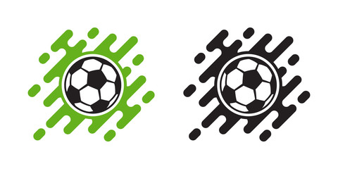 Soccer ball vector icon isolated on white. Football ball icon
