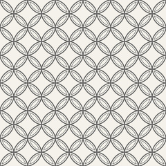 Abstract seamless ornamental quatrefoil pattern.