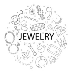 Vector jewelry pattern with word. Jewelry background