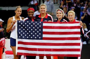 Fed Cup - World Group Semi Final - France vs United States