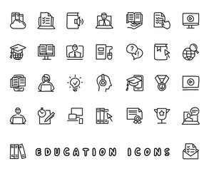 education hand drawn icon design illustration, line style icon, designed for app and web