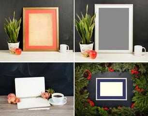 Template framing for modern art