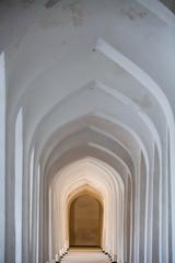 Arched hallway perspective in Bukhara, Uzbekisan.