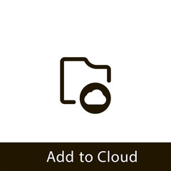folder icon. add to cloud folder. sign design