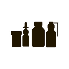 chemical bottle icon. sign design