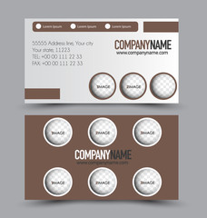 Business card set template for business identity corporate style. Vector illustration.