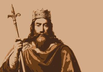 Clovis - portrait - Roi - personnage historique - chef - personnage célèbre - Roi des Francs - guerrier