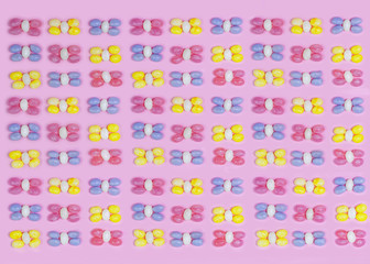 Pastel colored jelly beans pattern