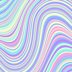 Abstract vector pattern. Curved wavy psychedelic irregular lines.