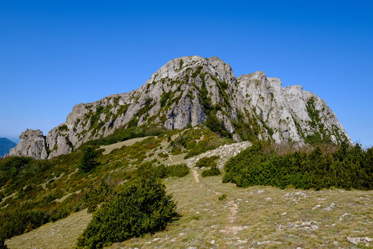 Peak of Bugarach in the Corbieres mountains