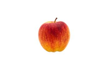 Single fresh red apple. Isolated on white background. Studio photography.