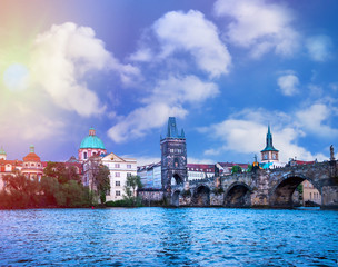Prague is the capital of the Czech Republic, the European state. Historical sights.