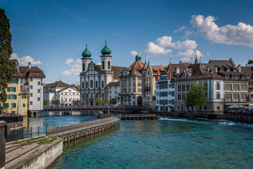 Lucerne church and river