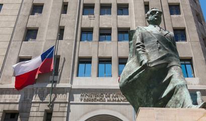 Monument to Chilean statesman and political figure. Salvador Allende in Santiago de Chile