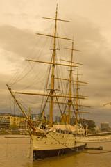 Frigate President Sarmiento. Buenos Aires port. Argentina