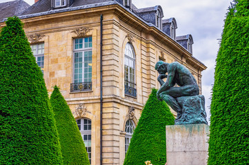 The Thinker (Le Penseur) 1880—1882 - bronze sculpture by Auguste Rodin, Paris. France