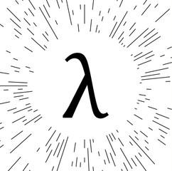 Greek letter lambda symbol