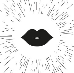 Vector icon of the lips