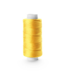 Color sewing thread on white background