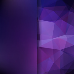 Abstract polygonal vector background. Purple geometric vector illustration. Creative design template. Abstract vector background for use in design