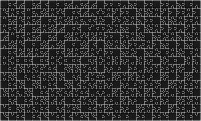 375 Black Puzzles Pieces Jigsaw - Vector