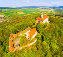 """The Zelena Hora (""""Green Mountain"""") is a castle on the south side of Nepomuk, in the Czech Republic. It is the home of Saint John of Nepomuk who was born here in around 1340."""