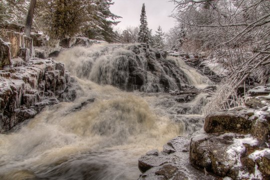 Chester Park is a City Park in Duluth, Minnesota during Winter