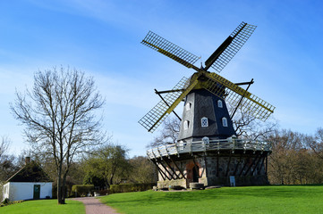 Old, countryside windmill