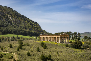 antiker römischer Tempel in Segesta in Sizilien