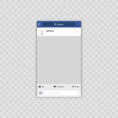 Social network photo frame. Vector illustration. Interface Concept.
