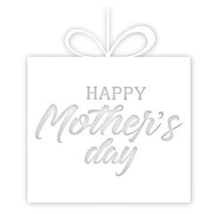 Happy mother's day greeting card. Vector illustration