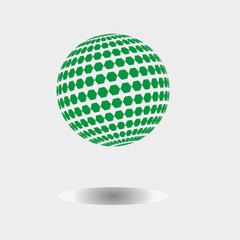 the logo is green/The picture shows a green shadow logo. For a new firm, institution