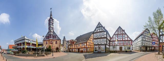 Rathausvorplatz, Rathaus und Kilianskirche, Korbach, Hessen