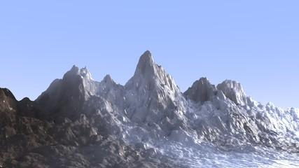 Mountain landscape isolated