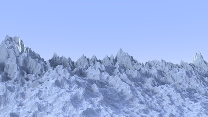 Blue mountains landscape isolated