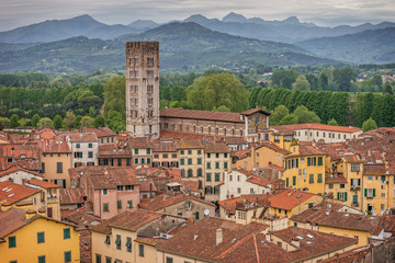 Fotomurales - Medieval town Lucca, Tuscany, Italy