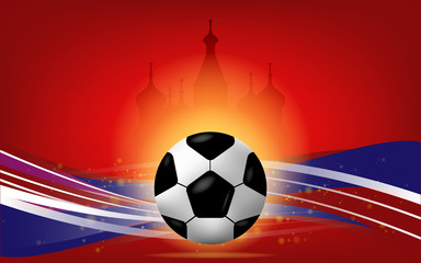 The football World  Cup  2018   Vector image for background soccer.